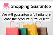 Shopping Guarantee. We will guarantee a full refund in case the product is fraudulent!